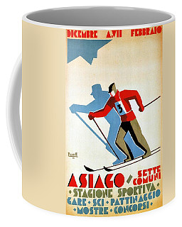 Asiago, Italy Ski Poster - Winter Sports - Retro Travel Poster - Vintage Poster Coffee Mug