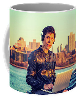 Asian American College Student Traveling, Studying In New York Coffee Mug