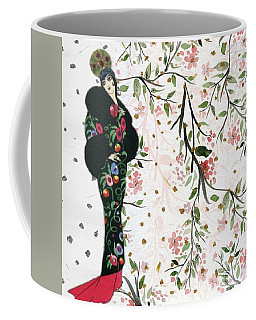 Asian Art Deco Beauty Coffee Mug