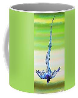 Coffee Mug featuring the digital art Asian Paradise Flycatcher by Iowan Stone-Flowers