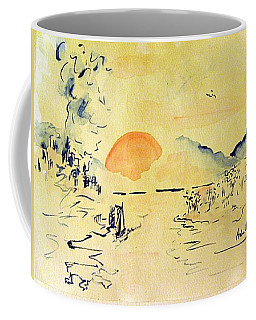 Coffee Mug featuring the painting Asian Sunrise by Andrew Gillette