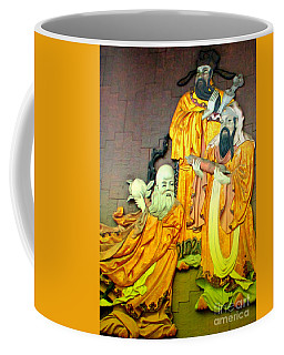 Asian Wall Sculpture Coffee Mug