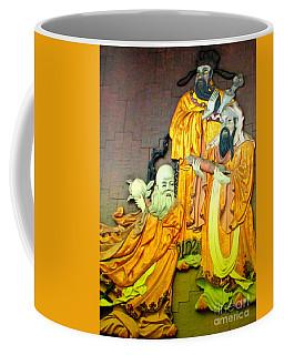 Asian Wall Sculpture Coffee Mug by Randall Weidner