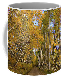 Coffee Mug featuring the photograph Aspen Alley by Steve Stuller
