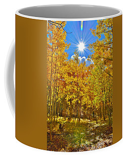 Coffee Mug featuring the photograph Aspen Grove Aglow by Diane Alexander