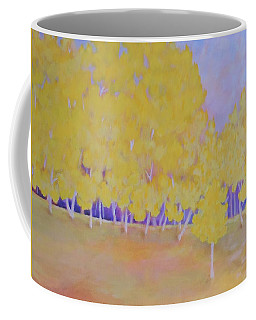 Coffee Mug featuring the painting Aspen Hill by Margaret Bobb