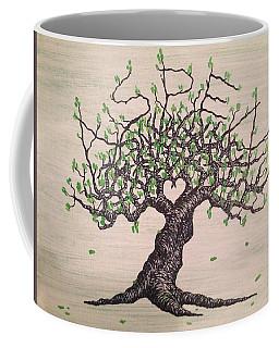 Coffee Mug featuring the drawing Aspen Love Tree by Aaron Bombalicki