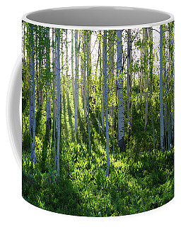Coffee Mug featuring the photograph Aspen Morning 1 by Marie Leslie