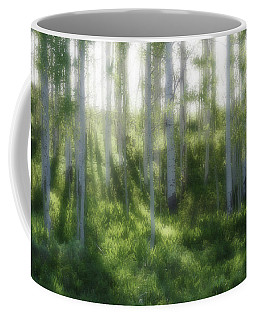 Coffee Mug featuring the photograph Aspen Morning 2 by Marie Leslie