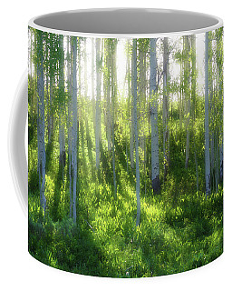 Coffee Mug featuring the photograph Aspen Morning 3 by Marie Leslie