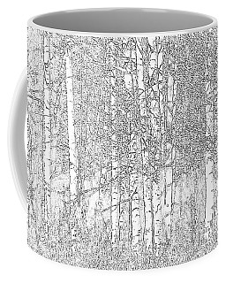 Aspen Tree Wallpaper Coffee Mug by Charlotte Schafer