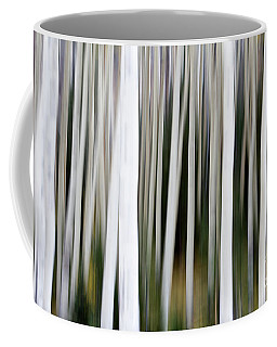 Coffee Mug featuring the photograph Aspens In An Abstract Key  by Bryan Keil