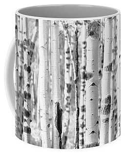 Coffee Mug featuring the photograph Aspens In Black And White  by Saija Lehtonen