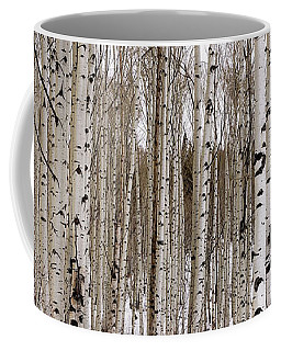 Aspens In Winter Panorama - Colorado Coffee Mug