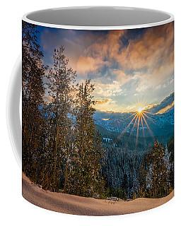 Aspens Sunset After Snowfall Coffee Mug