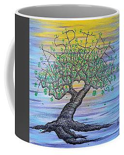 Coffee Mug featuring the drawing Aspire Love Tree by Aaron Bombalicki