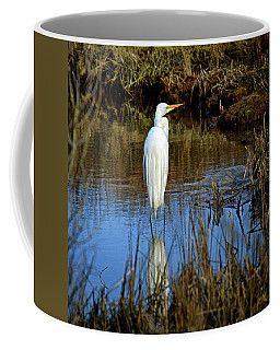 Assateague Island Great Egret Ardea Alba Coffee Mug