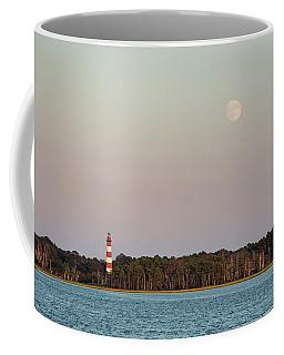 Assateague Light And The Full Moon Coffee Mug