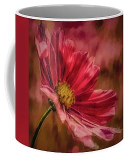 Aster Red Painterly #h1 Coffee Mug