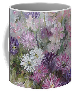 Asters And Stocks Coffee Mug