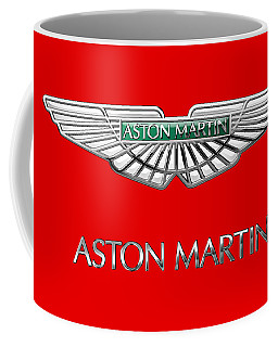 Aston Martin - 3 D Badge On Red Coffee Mug