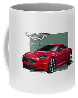 Aston Martin  D B S  V 12  With 3 D Badge  Coffee Mug