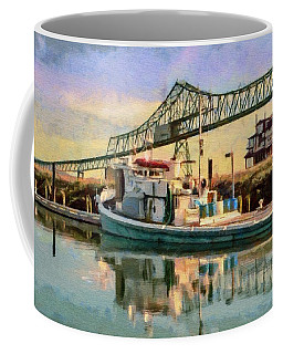 Astoria Waterfront, Scene 1 Coffee Mug by Jeff Kolker