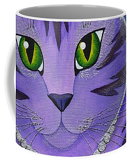 Coffee Mug featuring the painting Astra Celestial Moon Cat by Carrie Hawks