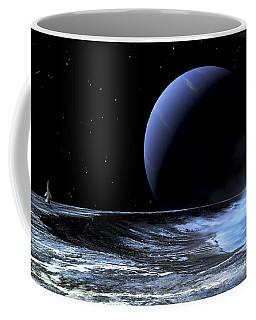 Astronaut Standing On The Edge Coffee Mug