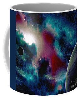 Astronomy Painting Glammed Out Teal Coffee Mug