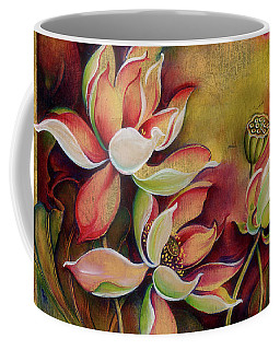 Coffee Mug featuring the painting At A Family Wander by Anna Ewa Miarczynska