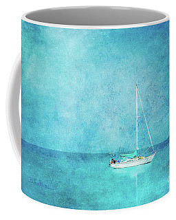 Coffee Mug featuring the mixed media At Anchor by Betty LaRue