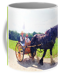 Horse And Buggy At Mount Vernon Coffee Mug