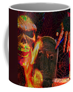 At Night In The Graveyard Coffee Mug
