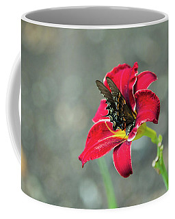 Coffee Mug featuring the photograph At One With The Orchid 2 by Brian Hale