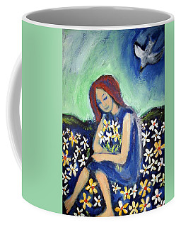 Coffee Mug featuring the painting At Peace by Winsome Gunning