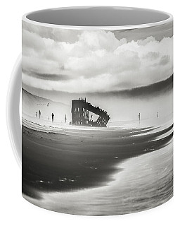 At Peter Iredale Shipwreck Black And White Coffee Mug