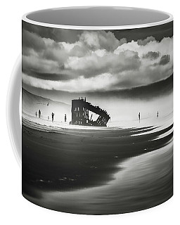 At Peter Iredale Shipwreck Mono Coffee Mug