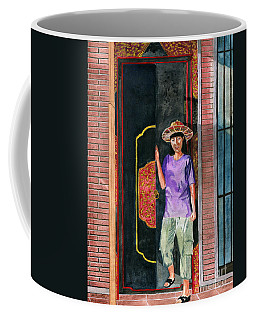 Coffee Mug featuring the painting At Puri Kelapa by Melly Terpening