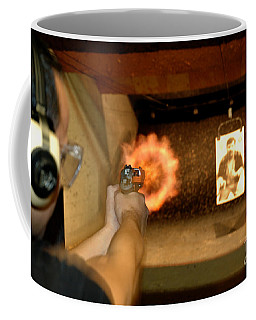 At The Gun Gange Coffee Mug by Micah May