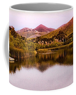 Coffee Mug featuring the photograph At The Lake by Alison Frank