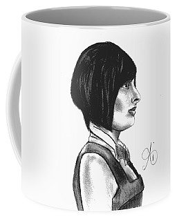 At Your Service - Bartender Art - Charcoal Drawing Illustration By Ai P. Nilson  Coffee Mug