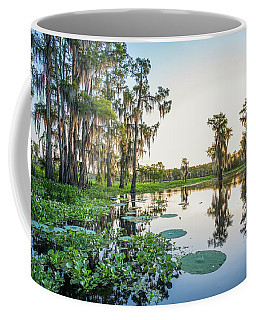 Coffee Mug featuring the photograph Atchafalaya Basin Sunrise by Andy Crawford