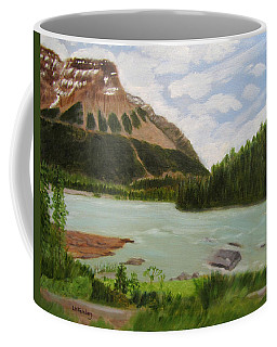 Coffee Mug featuring the painting Athabasca River by Linda Feinberg
