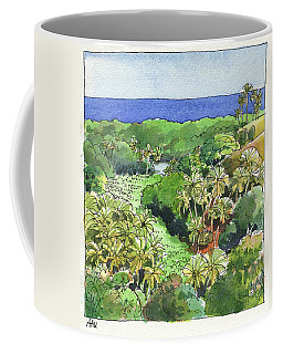 Coffee Mug featuring the painting Atiu Lake View by Judith Kunzle