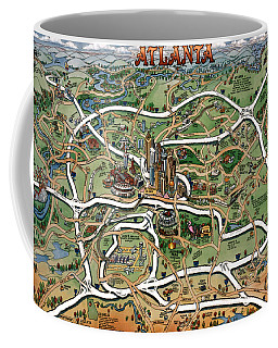 Atlanta Cartoon Map Coffee Mug