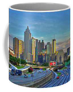 Atlanta Coca-cola Sunset Reflections Art Coffee Mug