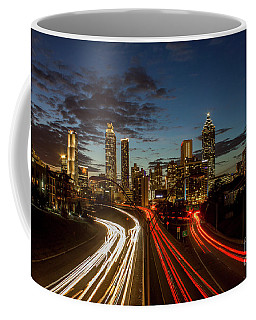 Coffee Mug featuring the photograph Atlanta Downtown Infusion Atlanta Sunset Cityscapes Art by Reid Callaway