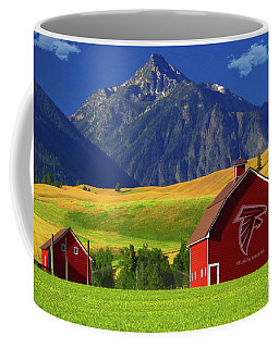 Coffee Mug featuring the photograph Atlanta Falcons Barn by Movie Poster Prints