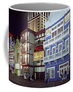 Atlantic City Boardwalk At Night Coffee Mug by Sally Weigand